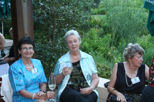 27. Wine tasting. Pauline Sampson, Yvonne Bowman & Iris Harvey.